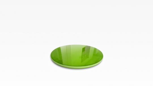 Auflageplatte 38 | glasierte Lavasteinplatte, grün