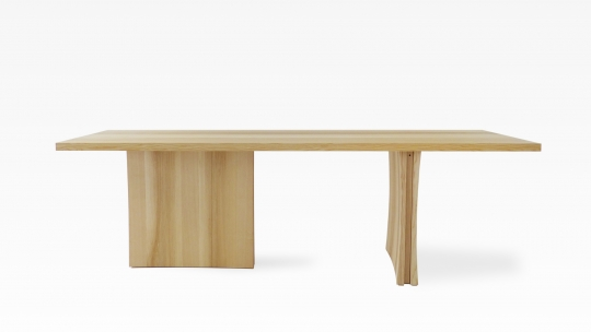TERA Biconave | dining table 240 x 90 cm, oiled ash