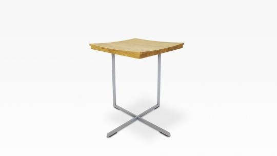 FLOAT | side table, oiled steel- wood