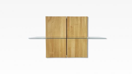 TERA-NAMI Regal 2x2 | modulares Regal, Eiche geölt mit 1 Glasboden