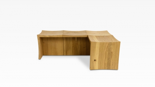 TERA Modular Set III | corner bench, oiled oak
