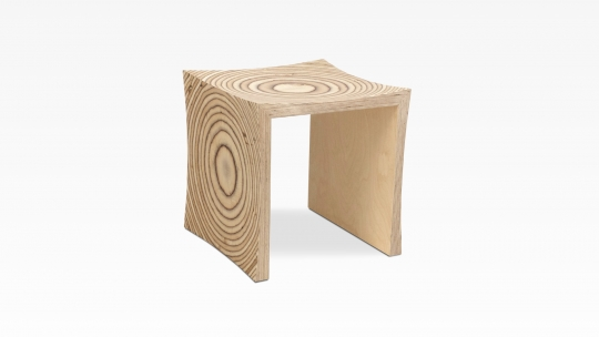 TERA-U | stool-side table, oiled birch plywood