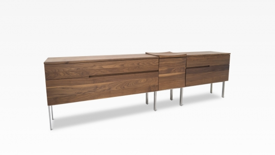 deutsu m nchner m belmanufaktur tera sideboard 129 43 86 s kommode aus 3 modulen nussbaum. Black Bedroom Furniture Sets. Home Design Ideas