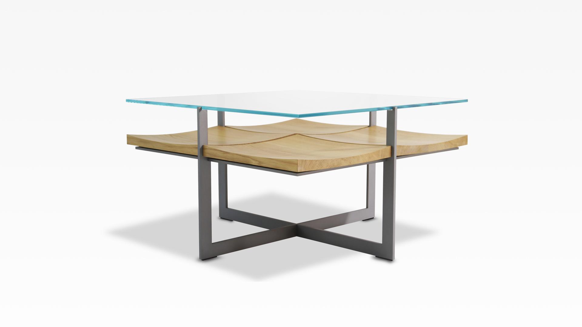 deutsu m nchner m belmanufaktur fallingwater 80x80 couchtisch mit vier schalenobjekten in. Black Bedroom Furniture Sets. Home Design Ideas